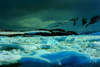 Poster featuring the photograph Blue Ice Flow by Amanda Stadther