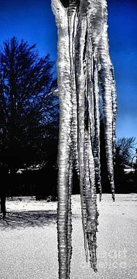 Poster featuring the photograph Blue Ice by Luther Fine Art
