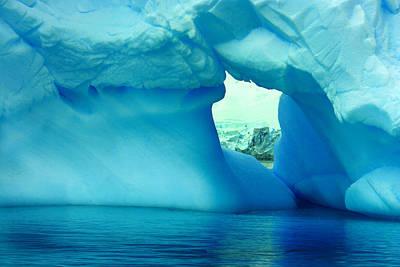 Blue Iceberg Antarctica Poster by Amanda Stadther