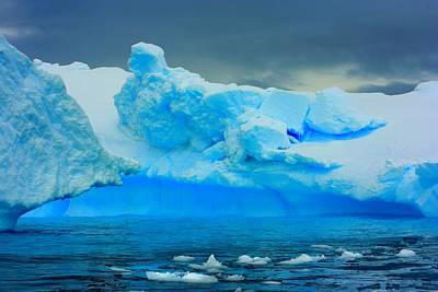 Poster featuring the photograph Blue Icebergs by Amanda Stadther