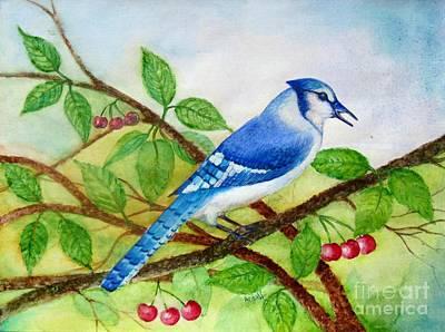 Blue Jay Poster by Anjali Vaidya