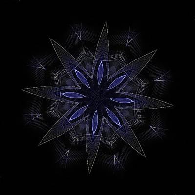 Blue Lace Fractal Mandala Poster