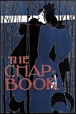 Blue Lady The Chap-book Poster by William H Bradley