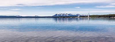 Blue Lake Horizon Poster by Jon Glaser