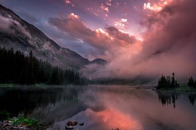 Blue Lakes Summer Sunset Poster