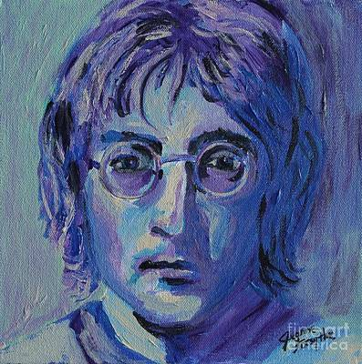 Poster featuring the painting Blue Lennon by Jeanne Forsythe