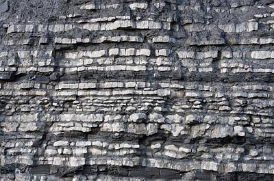 Blue Lias Strata Poster by Sinclair Stammers
