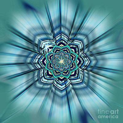 Blue Lotus Mandala Poster