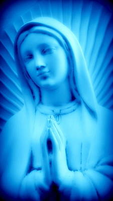 Poster featuring the photograph Blue Madonna by Aurelio Zucco