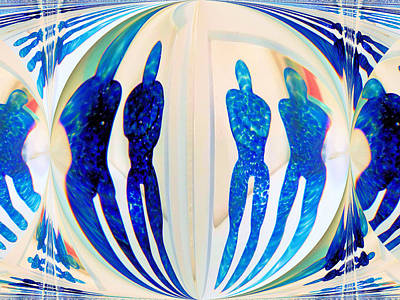 Blue Men Abstract Poster