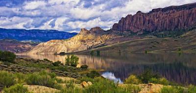 Blue Mesa Reservoir Digital Painting Poster