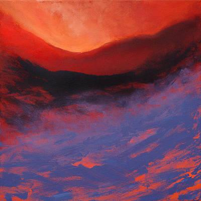 Blue Mist Rising Poster