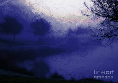 Poster featuring the photograph Blue Misty Reflection by Julie Lueders