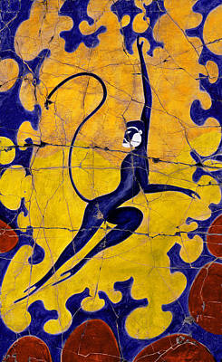 Blue Monkey No. 13 - Detail No. 1 Poster by Steve Bogdanoff