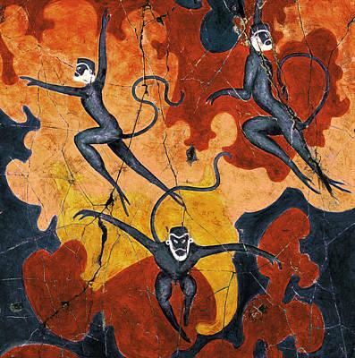 Blue Monkeys No. 8 - Study No. 1 Poster by Steve Bogdanoff