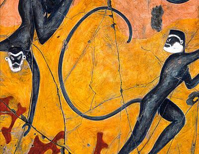 Blue Monkeys No. 9 - Study No. 1 Poster by Steve Bogdanoff