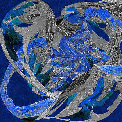 Blue Moon Dancer Poster by Michele Avanti