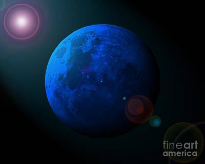 Blue Moon Digital Art Poster by Al Powell Photography USA
