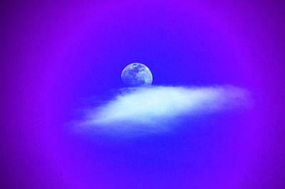 Blue Moon Lavender Sky Poster by Susanne Still