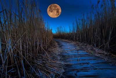 Super Moon Before Sunrise Poster