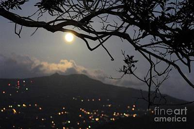 Blue Moon Over El Yunque Poster