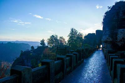 Blue Morning On The Bastei Poster
