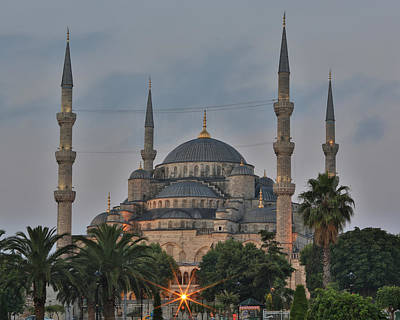 Blue Mosque Morning Light Poster by Stephen Stookey
