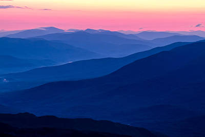 Blue Mountain Layers  Poster by Jeff Sinon