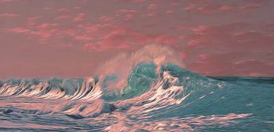 Blue Ocean Wave Poster