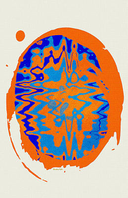 Blue Orange Abstract Art Poster by Christina Rollo