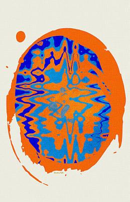 Blue Orange Abstract Art Poster