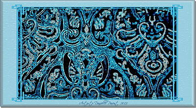 Blue Paisley Patterns  Poster
