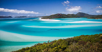 Blue Paradise Whitehaven Beach Whitsunday Island Poster by Mr Bennett Kent