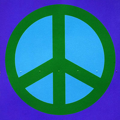 Blue Peace Symbol Poster