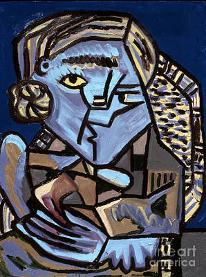 Blue Picasso Poster