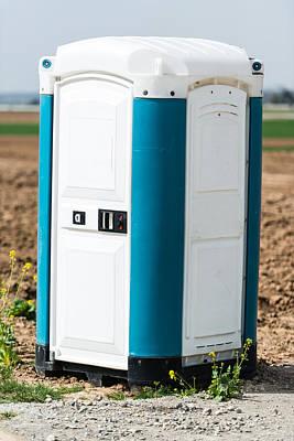 Blue Portable Toilet Poster by Frank Gaertner