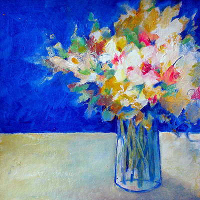 Blue Posy Poster by Susanne Clark