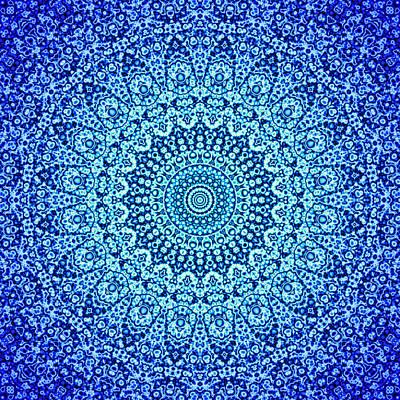 Blue Quasicrystal Poster