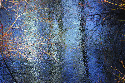 Blue Reflections Of The Patapsco River Poster