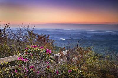 Blue Ridge Dawn Poster by Andrew Soundarajan