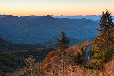 Blue Ridge Morning Poster by Clay Townsend