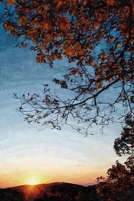 Blue Ridge Mountail Fall Poster