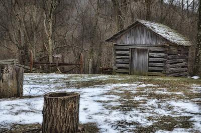 Blue Ridge Mountain Farm Poster by Steve Hurt
