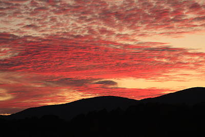 Poster featuring the photograph Blue Ridge Mountain Sunset-alabama by Mountains to the Sea Photo