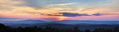 Blue Ridge Mountains Poster by Debra and Dave Vanderlaan