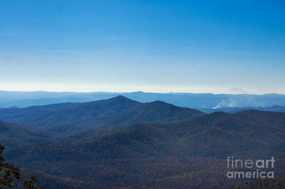 Poster featuring the painting Blue Ridge Mountains by Debra Crank