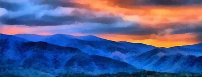 Blue Ridge Mountains Sunrise Poster