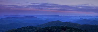 Blue Ridge Panorama At Dusk Poster by Andrew Soundarajan