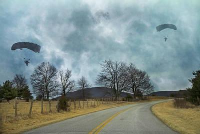 Blue Ridge Parkway Parachutist Poster by Betsy Knapp