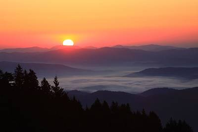Blue Ridge Parkway Sea Of Clouds Poster